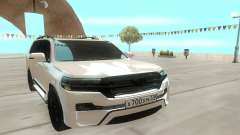Toyota Land Cruiser 200 White для GTA San Andreas