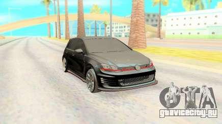 Volkswagen Golf 7 Black для GTA San Andreas