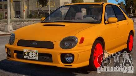 Subaru Impreza STi Orange Wagon для GTA 4