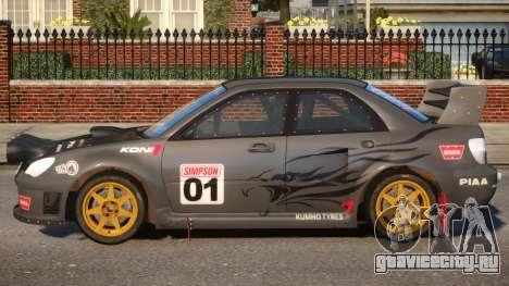 Subaru Impreza WRX V1.6 для GTA 4