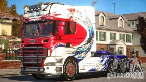 Scania R580 Longline Custom PJ6 для GTA 4