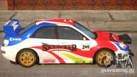 Subaru Impreza WRX V1.2 для GTA 4 вид сзади