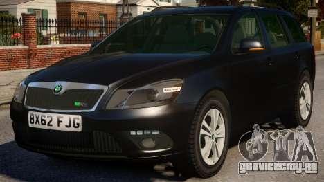 Skoda Octavia Unmarked для GTA 4