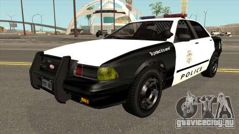 LVPD Vapid Stanier GTA V IVF для GTA San Andreas