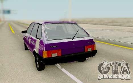 ВАЗ 2109 Тюнинг для GTA San Andreas вид справа