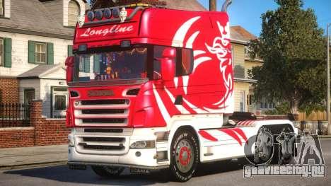 Scania R580 Longline Custom PJ4 для GTA 4