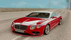 Bentley Continental GT Red для GTA San Andreas