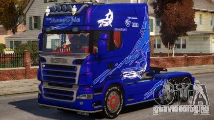 Scania R580 Longline Custom PJ8 для GTA 4