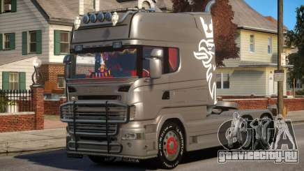Scania R580 Longline Custom PJ1 для GTA 4