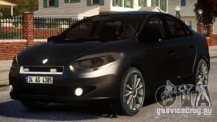 Renault Fluence Civil Polis для GTA 4