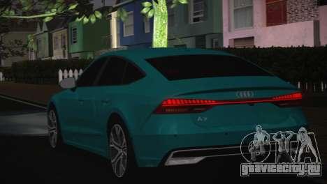 Audi A7 для GTA San Andreas вид изнутри