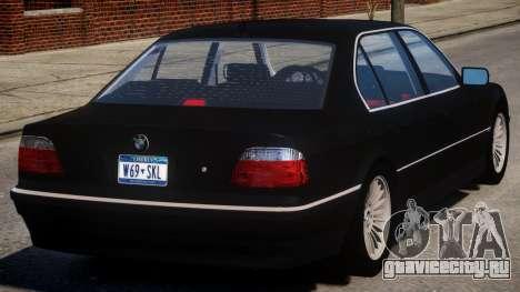 1998 BMW 750 E38 V1.1 для GTA 4