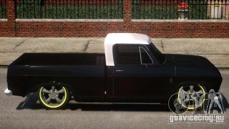 Chevrolet C-10 для GTA 4 вид сзади