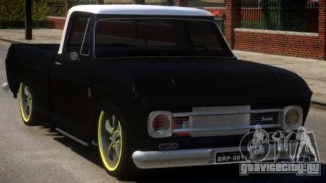 Chevrolet C-10 для GTA 4 вид изнутри