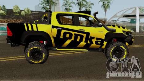 Toyota Hilux Tonka Concept 2017 для GTA San Andreas вид сзади