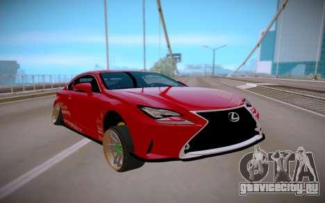 Lexus IS 350 F-Sport для GTA San Andreas