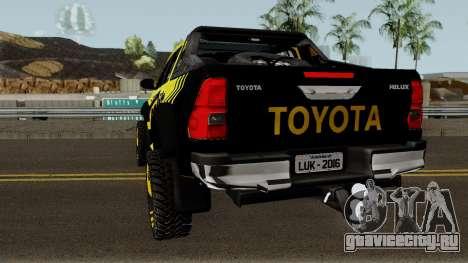 Toyota Hilux Tonka Concept 2017 для GTA San Andreas вид сзади слева