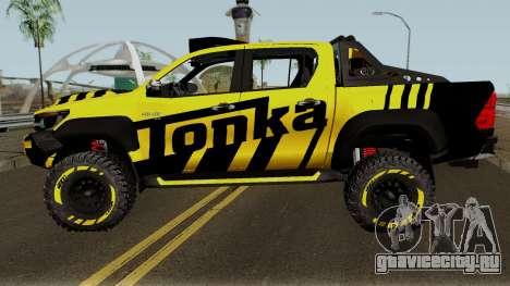 Toyota Hilux Tonka Concept 2017 для GTA San Andreas вид слева