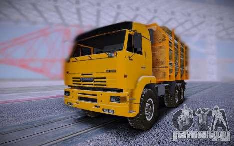 КАМАЗ 6460 Лесовоз с брёвнами для GTA San Andreas
