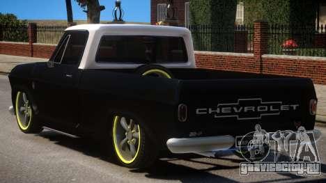 Chevrolet C-10 для GTA 4 вид сзади слева