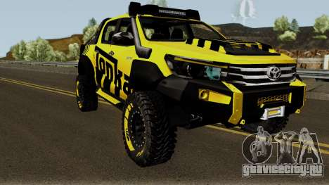 Toyota Hilux Tonka Concept 2017 для GTA San Andreas вид изнутри