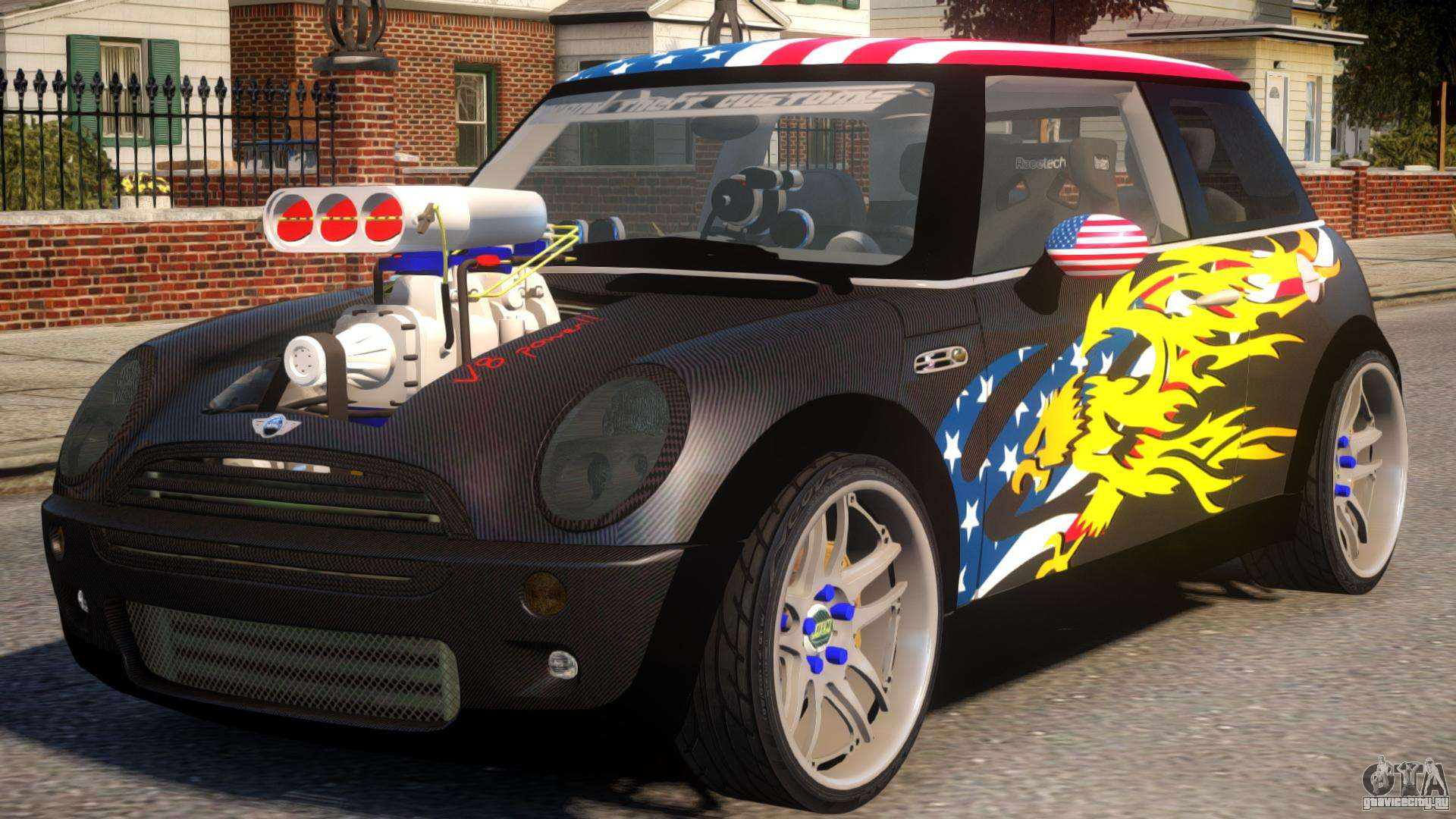 Mini Cooper S V8 Usa для Gta 4