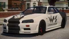 Nissan Skyline GT-R R34 PJ1 для GTA 4