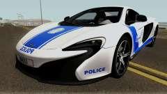 McLaren 650S Spyder Algeria Police v1.0 для GTA San Andreas