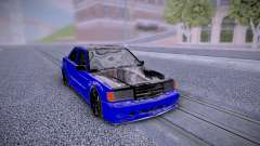 Mercedes-Benz 190E Blue для GTA San Andreas