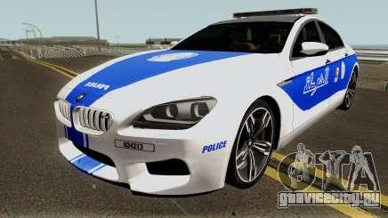 BMW M6 F13 Gran Coupe 2014 Algeria Police для GTA San Andreas