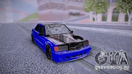 Mercedes-Benz 190E Blue для GTA San Andreas