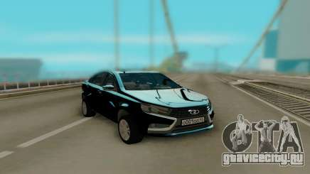 Lada Vesta Black для GTA San Andreas