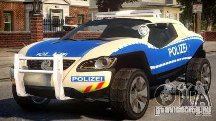 VW Concept T German Police Car для GTA 4