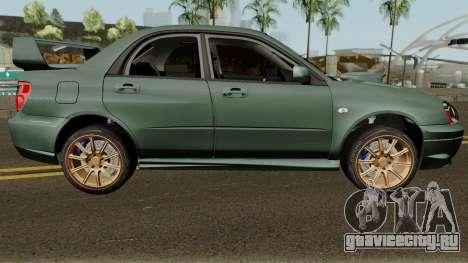 Subaru Impreza WRX STI 2004 Stock для GTA San Andreas вид сзади