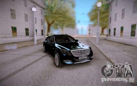 Mercedes-Benz S600 W222 для GTA San Andreas вид сзади