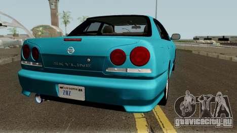 Nissan Skyline R34 Sedan 1999 для GTA San Andreas вид справа