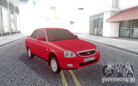 Lada Priora Red для GTA San Andreas
