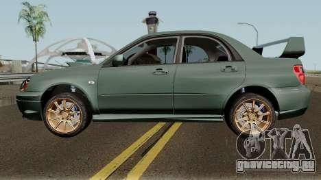 Subaru Impreza WRX STI 2004 Stock для GTA San Andreas вид слева