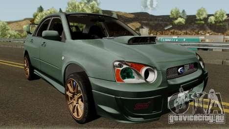 Subaru Impreza WRX STI 2004 Stock для GTA San Andreas вид изнутри