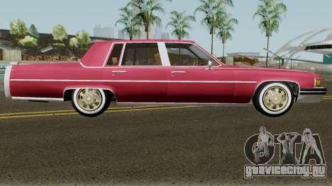 Cadillac Fleetwood Normal 1985 v1 для GTA San Andreas вид сзади