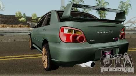Subaru Impreza WRX STI 2004 Stock для GTA San Andreas вид сзади слева