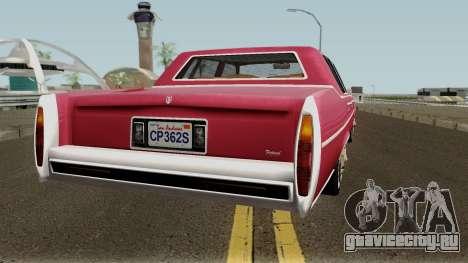 Cadillac Fleetwood Normal 1985 v1 для GTA San Andreas вид справа