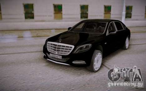 Mercedes-Benz S600 W222 Black для GTA San Andreas