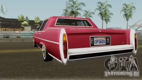 Cadillac Fleetwood Normal 1985 v1 для GTA San Andreas вид сзади слева