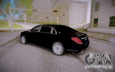 Mercedes-Benz S600 W222 для GTA San Andreas вид слева