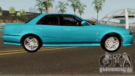 Nissan Skyline R34 Sedan 1999 для GTA San Andreas вид сзади