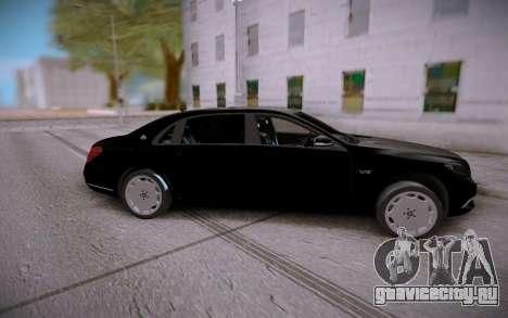 Mercedes-Benz S600 W222 для GTA San Andreas вид сзади слева