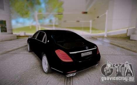Mercedes-Benz S600 W222 для GTA San Andreas вид справа