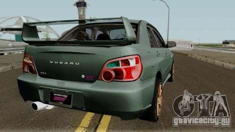 Subaru Impreza WRX STI 2004 Stock для GTA San Andreas вид справа