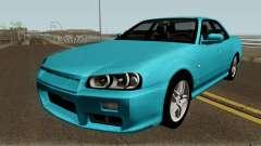 Nissan Skyline R34 Sedan 1999 для GTA San Andreas